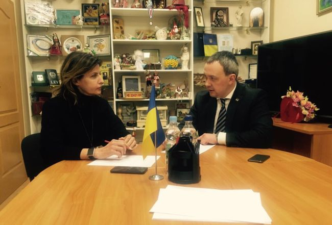 Голова Рівненської ОДА Олексій Муляренко поспілкувався з Мариною Порошенко про розвиток інклюзивної освіти на Рівненщині