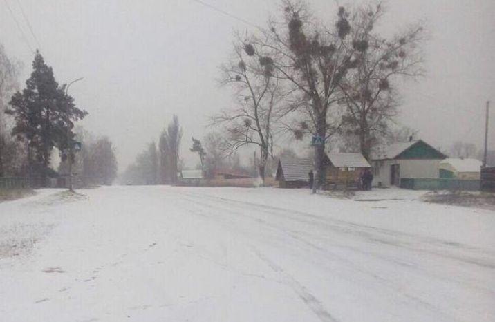 На Рівненщину прийшов перший сніг