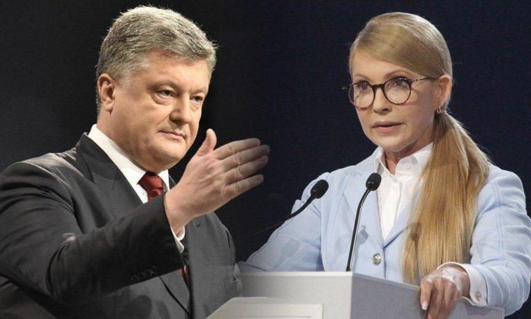 Порошенко і Тимошенко лідирують в рейтингу кандидатів у президенти