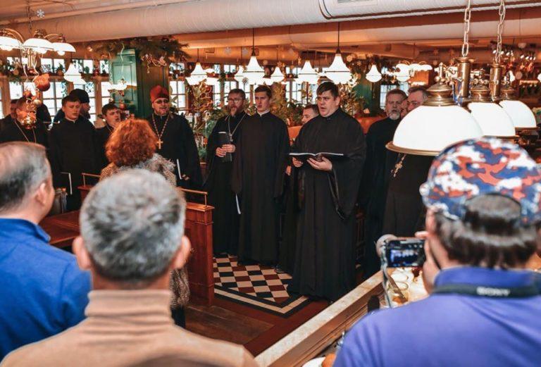 Ляшко разом із рівненськими церковниками заспівав колядок (+ФОТО,ВІДЕО)