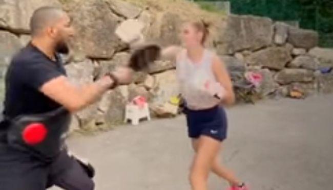 Рівненська тенісистка Катарина Завацька провела тренування з боксу