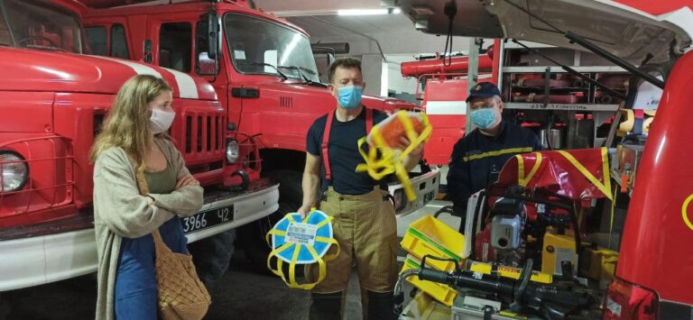 Рівненщину відвідав професійний пожежний з Великобританії
