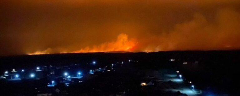 На Сарненщині рятувальники локалізували пожежу сухої трави (+ВІДЕО)